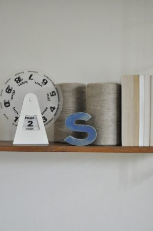 Lettre S bleue