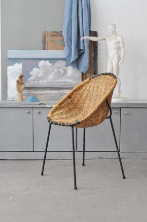 fauteuil-rotin-vintage